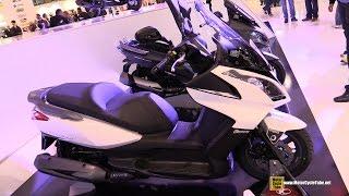 7. 2015 Kymco Downtown 300i Scooter - Walkaround - 2014 EICMA Milan Motorcycle Exhibition