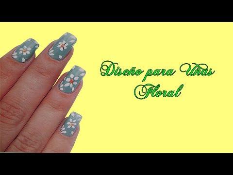 manicure flores - Fotos o Imagenes de Uñas Decoradas, Manicure, Diseño de Uñas con Flores paso a paso. http://tintesparacabello.com Uñas Decoradas nail art manicure uñas de ac...