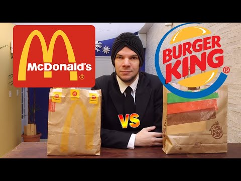 McDonald's VS Burger King. QUEM É MELHOR? BIG MAC OU WHOPPER?