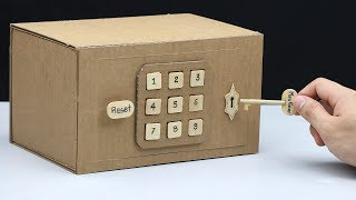 Video Build a Safe with Combination Number Lock and Key from Cardboard MP3, 3GP, MP4, WEBM, AVI, FLV Maret 2019