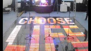 Four Star Events NEW LED Video Dance Floor To Hire In UK And Europe