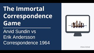The Immortal Correspondence Game: Arvid Sundin vs Erik Andersson - 1964