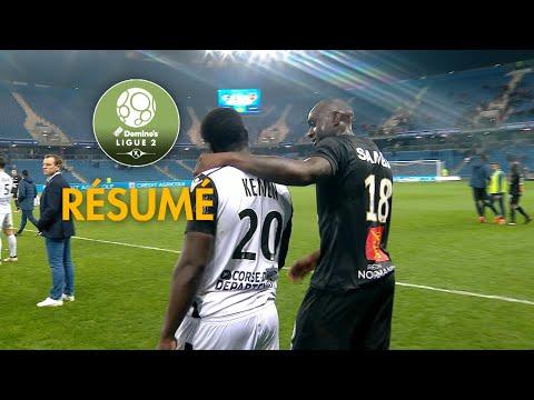 Havre AC - Gazélec FC Ajaccio ( 2-1 ) - Résumé - (HAC - GFCA) / 2017-18