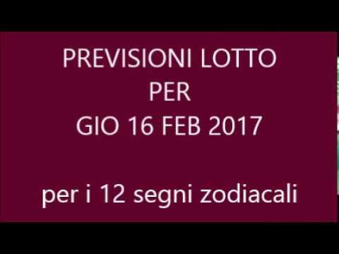 Previsioni per il Lotto ★ Estrazione Giovedì 16 Febbraio 2017