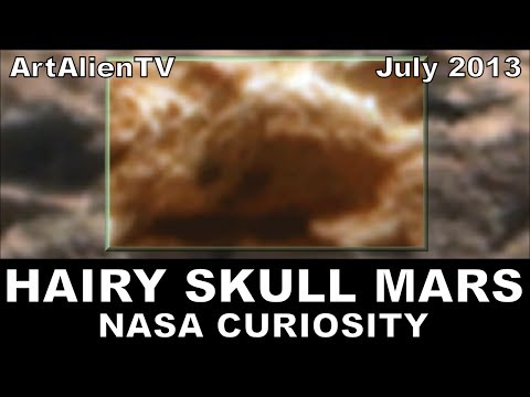 "Hairy Alien Skull Found on Mars: NASA Curiosity Rocknest. Soundisciples ""Micropig"". 738p ArtAlienTV"