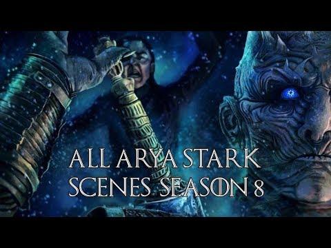 Game of Thrones: Arya Stark - All Season 8 Scenes | HD 1080p