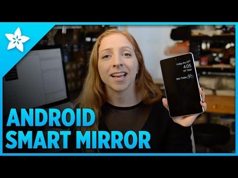 他把家裡的舊螢幕拿出來拆解後跟鏡子裝在一起,做好的「智慧型魔鏡」根本就是電影才有的高科技產品啊!