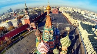 Beautiful Moscow Aerial Flights