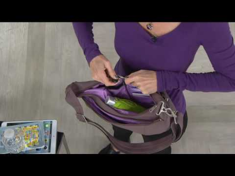 Travelon Anti-Theft Crescent Sling Hobo Bag with RFID on QVC