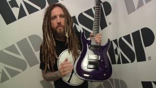 "Live Vid from NAMM 2017 of Brian Head Welch talking about his new ESP signature model ""Sir Headly"" SH 7ET and move from Ibanez"