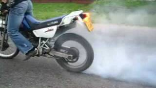 9. Stunt on Suzuki DR200 by Remik (Wheelies)