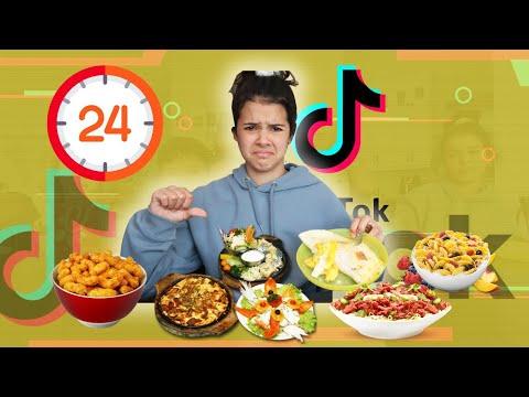 EATING Viral TikTok Food HACKS for 24 hours