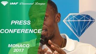 3 days ago ... Monaco 2017 Press Conference with Usain Bolt - IAAF Diamond League. IAAF nDiamond League. Loading... Unsubscribe from IAAF Diamond...
