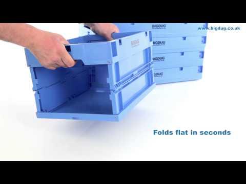 BiGDUG Folding Euro Stacking Containers