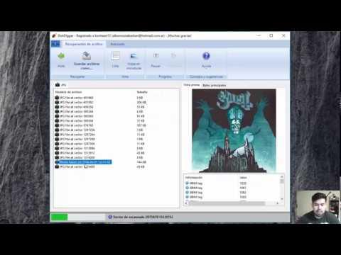 Recuperar archivos borrados (Diskdigger)