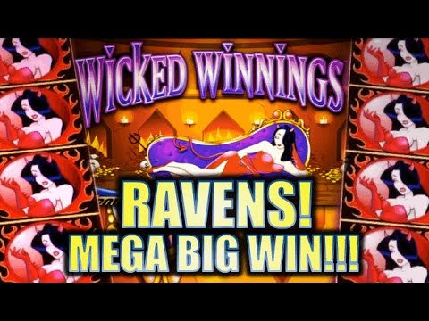 ★ HUGE MEGA BIG WIN!! ★ WICKED WINNINGS II & III – RAVENS!! Slot Machine Bonus (Aristocrat)