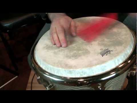 Tom Teasley-LP Djembe with Remo Head and Vic Firth Jazz Rakes