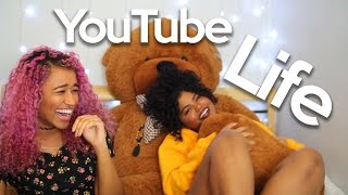 """What It's REALLY Like Being a Youtuber!  Finally Answering Your Questions! : Today Leah Allyannah and I finally answer all your questions about YouTube, life, school, everything we keep getting asked. Enjoy!Leah's Video: https://www.youtube.com/watch?v=5rm9UeWl_LsFOLLOW ME HERE:•Beauty YOUTUBE Channel: http://www.youtube.com/OffbeatLook•Personal YOUTUBE Channel: http://youtube.com/offbeatenergy•Instagram: @OffbeatLook•Twitter: http://www.twitter.com/OffbeatLook•SNAPCHAT: @OffbeatEnergy•YouNow: https://www.younow.com/OffbeatLook•Beaty Blog: http://OffbeatLook.com•Facebook Fanpage: https://www.facebook.com/Camille-from-OffbeatLook-1631629563739025/•Tumblr (Beauty/Fashion): http://www.OffbeatLook.tumblr.com•Tumblr (Personal): http://OffbeatEnergy.tumblr.com•Pinterest: http://pinterest.com/OffbeatLookHOW TO FOLLOW MY BLOG:  My blog: http://offbeatlook.com  Follow it on BlogLovin' here: http://bit.ly/2icmrSX  OR go to my blog and enter your email under """"Subscribe by Email""""SUPPORT MY CHANNEL ON PATREON: https://www.patreon.com/OffbeatLookWhat is patreon? Watch the end of this video where I explain: https://www.youtube.com/watch?v=-mKSB8RnlTgt=18m38s or https://www.youtube.com/watch?v=Ebqi-1FOC7UWHAT I FILM WITH:•Camera: http://amzn.to/1YdOWhw•Lens: http://amzn.to/1YdPbJu (More important than the camera? Probably! Make sure you get it with the mount that's compatible with your camera!)•Main Light: http://amzn.to/1t7Jhxi•Other Lights: http://amzn.to/1RWMswyDISCOUNTS YOU CAN ALWAYS GET-30% Off Ofra Products http://bit.ly/29QyuOs using coupon code """"OFFBEATLOOK""""MY RECOMMENDED VIDEOS TO WATCH:-Foundation Routine: http://bit.ly/2asarr5-Current Hair Colour Tutorial: http://bit.ly/2h1Mfz0-I know I look like Nicki Minaj...: http://bit.ly/2biq1rdAH WAH DIS?Thanks for visiting my channel! Here at OffbeatLook, I express my wonky, silly, personal, and offbeat style in a variety of videos including hair dye videos, hair tutorials, curly hair videos, makeup, makeup tutorials, fashion vid"""