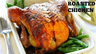 Our roasted chicken recipe produces one of the most delicious birds you'll ever taste. The secret is injecting the chicken with a combination of soy sauce and ...