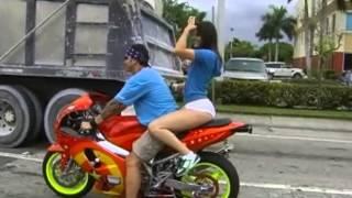 Hot White Girl On Bike
