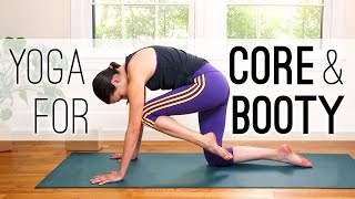 Video Yoga for Core (and Booty!) - 30 Minute Yoga Practice - Yoga With Adriene MP3, 3GP, MP4, WEBM, AVI, FLV Maret 2018