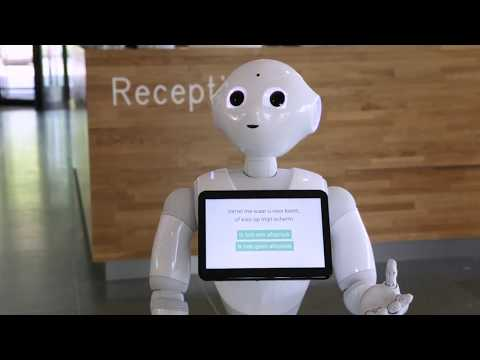 Municipality uses Pepper robot for hospitality