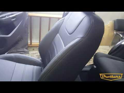 """Чехлы на Ford Kuga 2, 2016 - н.в. серии """"Premium"""" - серая строчка"""
