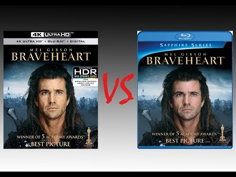 ▶ Comparison Of Braveheart 4K With Dolby Vision Mode Vs Braveheart 2009 Blu-Ray Edition