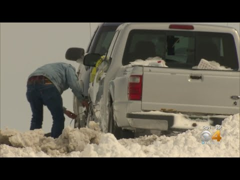 Big Dig Begins For Cars Stranded After Bomb Cyclone