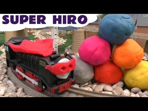 friends - Thomas & Friends Hiro dons a cape and a mask to circle the track. At each Play Doh Surprise Egg he stops to revels it's contents. Each egg contains one super hero. Can you guess which super...