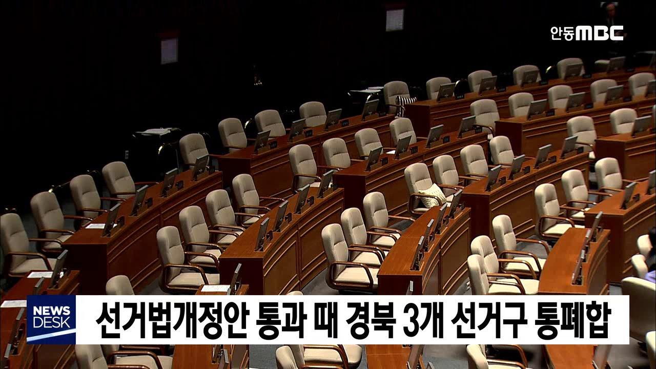 선거법개정안 통과되면 경북 3개 선거구 통폐합