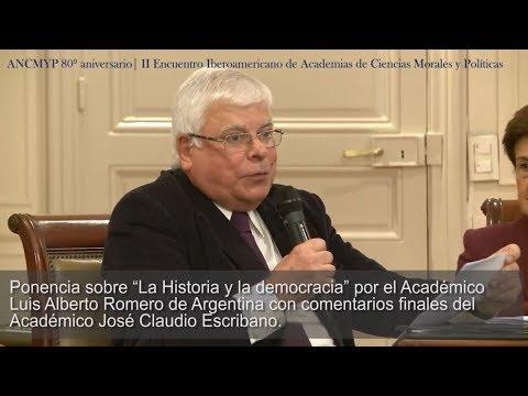 """Conferencia de Luis Alberto Romero """"La Historia y la democracia"""""""