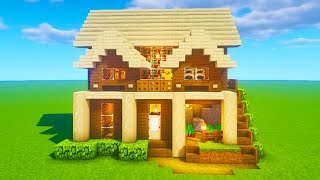 """Minecraft Tutorial: How To Make A Wooden Cliff House """"2020 Tutorial"""""""