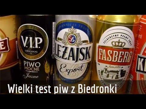 Test piwa z Biedronki