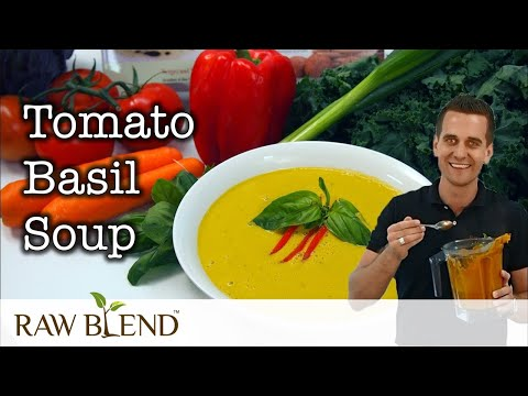 Vitamix Demonstration 2. Hot Soup Recipe by Raw Blend