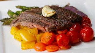 Sheet Pan Steak and Rainbow Veggies by Tasty