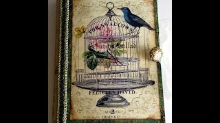 """A junk journal with a bird theme. It measures 8 3/4"""" x 5 3/4"""". It is available in my Etsy shop at: https://www.etsy.com/listing/510722078/bird-junk-journal?ref=listings_manager_gridLinks to some of the items used:Journal Kit: https://www.etsy.com/shop/CreatifBoutique?ref=shop_suggEphemera: http://thegraphicsfairy.com/Cover Picture: https://www.etsy.com/shop/CottageRoseGraphics?ref=search_shop_redirect"""