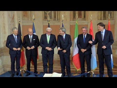 «Ανησυχούν για το ευρωπαϊκό οικοδόμημα» οι έξι ιδρυτές της ΕΕ
