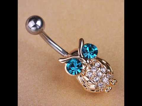 Get Gold Owls Blue Piercing Belly Rings at 20% special discount
