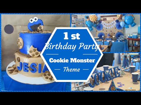 Cookie Monster Theme 1st Birthday Party ~Dollar Tree & Pinterest Inspired~