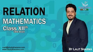 "A ""relation"" is just a relationship between sets of information. Think of all the people in one of your classes, and think of their heights. The pairing of names and heights is a relation. In relations and functions, the pairs of names and heights are ""ordered"", which means one comes first and the other comes second.In this Video Tutorial, Lalit Sharma covers all about Class 12 Maths Relations Functions such as:1) Concept of Relation2) Definition of Relation3) Basic Ideas of Relations and FunctionsSHARE THIS VIDEO LESSON WITH YOUR FRIENDS To watch more tutorials Subscribe us: https://www.youtube.com/c/StudyKhazana** Stay Connected with Us **https://www.facebook.com/studykhazanahttps://twitter.com/StudyKhazanaahttps://plus.google.com/+StudyKhazanahttps://www.instagram.com/study_khazana/Full Course and Lecture Videos now available on (Study Khazana) login at http://studykhazana.com/Contact Us : +91 8527697924Mail Us: mail@studykhazana.com"