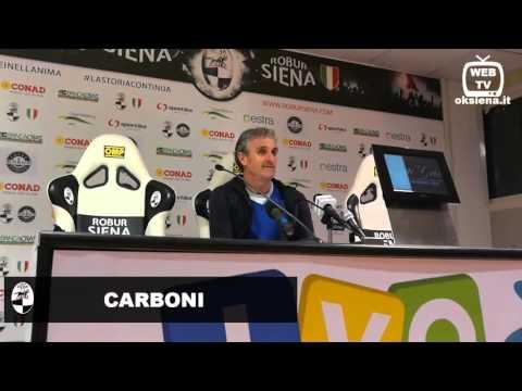 Robur Siena Teramo 3-3 - Intervista a Carboni allenatore Robur Siena - 2016