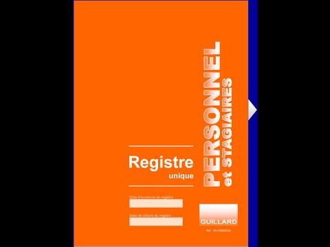 Registre unique du PERSONNEL ET DES STAGIAIRES - Guillard-Publications