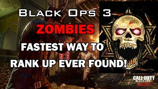 ♔SUBSCRIBE! for the FRESHEST! B03 Zombies Videos!♔Support the video by spending 1 second clicking the 'Like' Button!Thanks :)FOR ★VIP★ ACCESS TO ALL MY GLITCH VIDEOS LIKE! MY FACEBOOK PAGE!http://www.facebook.com/applemasteredThis is the NEW fastest way to rank up super fast in Black ops 3 zombies Enjoy the Prestiges :)