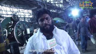 Shanmuga Raja at Thiruttu Rail Movie Shooting Spot