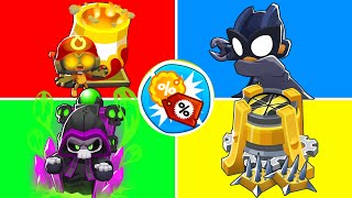 Bloons TD6 - 4 Player Instant Towers Only Challenge | JeromeASF