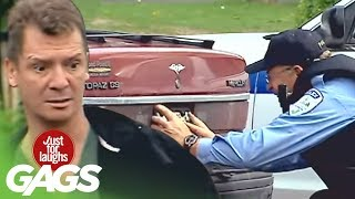 A Policeman's Prank - Just For Laughs Gags