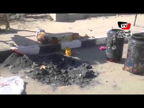 اللقطات الأولى لمصرع انتحاري استهدف تفجير أحد التمركزات الأمنية بالعريش