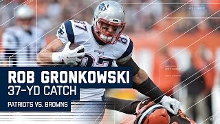 Brady Hits Gronk for 37-Yard Gain! | Patriots vs. Browns | NFL by NFL