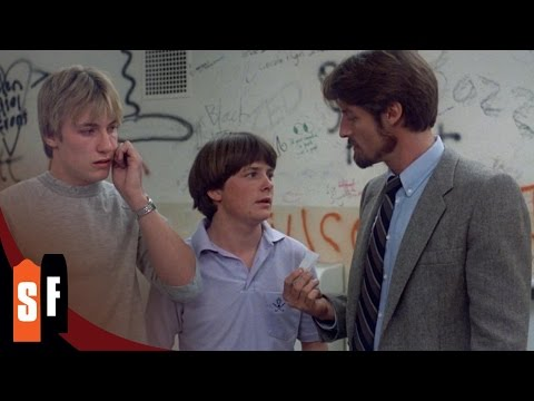 Class Of 1984 (1/2) Michael J. Fox - Bathroom Drug Deal (1982) HD